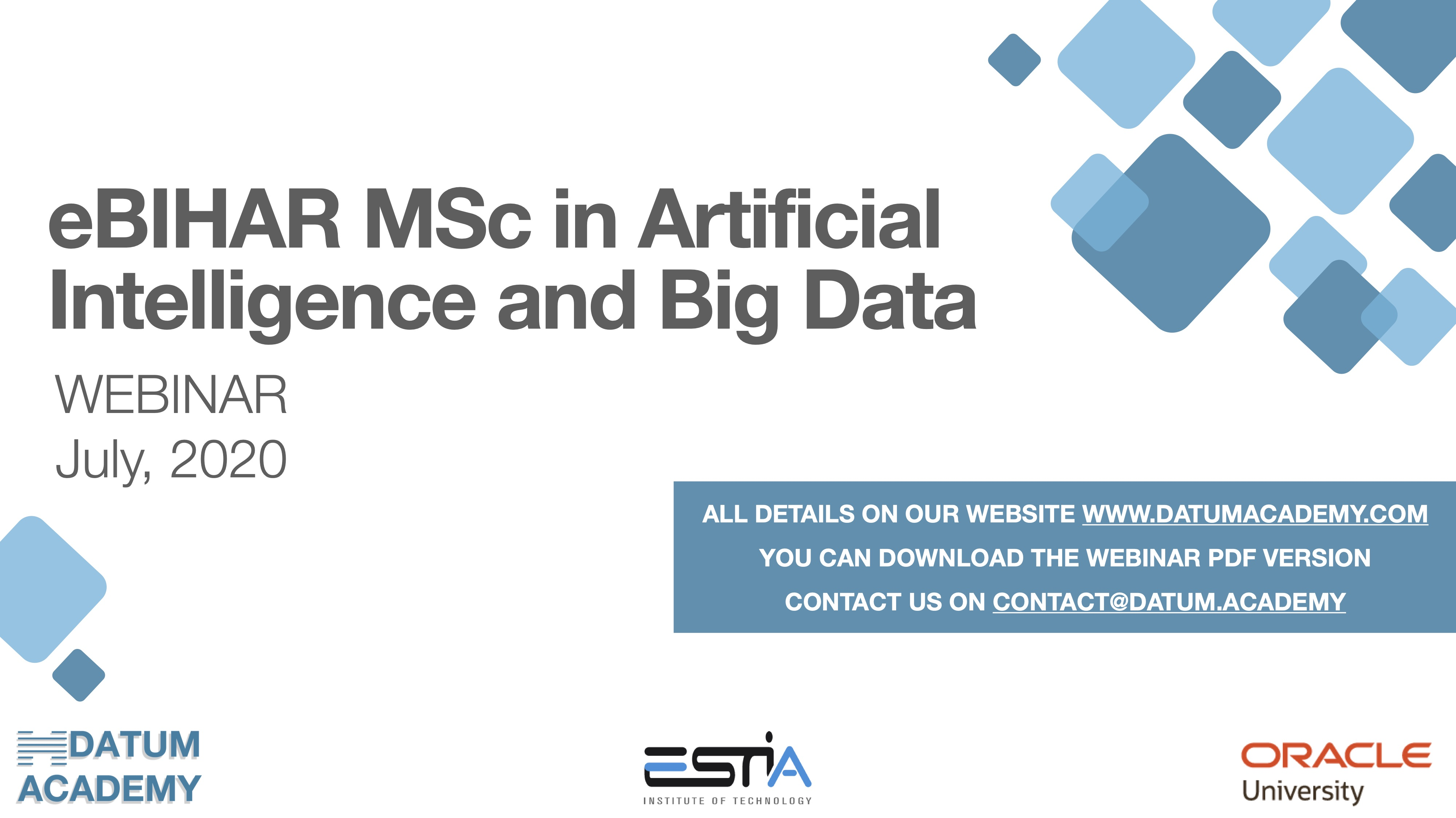eBIHAR MSc in Artificial Intelligence and Big Data